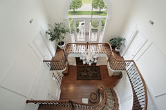Foyer and second floor landing Royalty Free Stock Photo