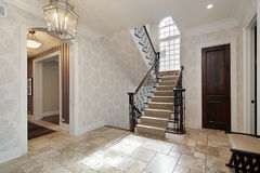 Foyer with second story window Stock Images