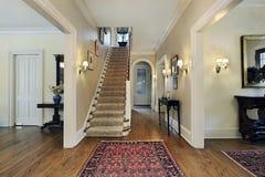Foyer in suburban home Stock Image