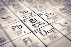Foyer sur l'élément chimique de bismuth Images stock