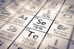 Foyer sur l'élément chimique de sélénium illustration stock