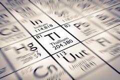 Foyer sur l'élément chimique de thallium illustration de vecteur