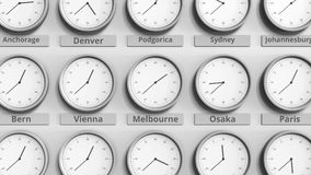 Foyer sur l'horloge temps montrant Melbourne, Australie animation 3D clips vidéos