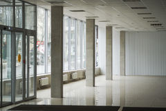 Foyer for trade, shop premises. The lobby for the trade, shop premises, new premises,large Windows Stock Photo