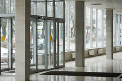 Foyer for trade, shop premises. The lobby for the trade, shop premises, new premises,large Windows Stock Images
