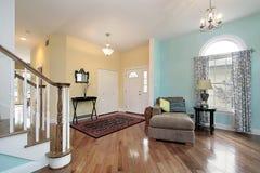 Foyer und Wohnzimmer stockfoto
