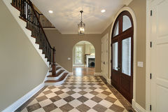 Foyer With Checkerboard Floor Royalty Free Stock Image