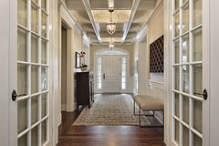 Foyer With French Doors Royalty Free Stock Photography