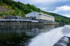 Foyers Falls power stations on Loch Ness Royalty Free Stock Image