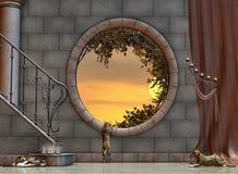 foyeru okno Zdjęcie Stock