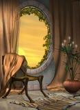 foyeru okno Zdjęcia Stock