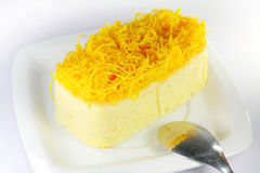 Foythong cake, Gold Egg Yolks Thread Cake Royalty Free Stock Image