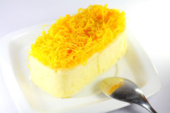 Foythong cake, Gold Egg Yolks Thread Cake Stock Photography