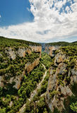Foz de Arbayún, A canyon in Spain. A picture of the Foz de Arbayún, A canyon near the town of Lumbier in Spain Royalty Free Stock Photos