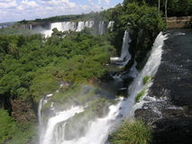 Foz de Iguasu. Waterfalls - view from the argentinian side Royalty Free Stock Photo