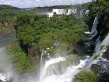 Foz de Iguasu. Waterfalls - view from the argentinian side Royalty Free Stock Photography