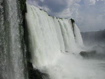 Foz de Iguazu. In Brazil. One of the biggest waterfalls in the world Royalty Free Stock Image