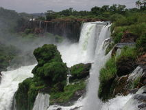 Foz de Iguazu. In Brazil. One of the biggest waterfalls in the world Stock Photo