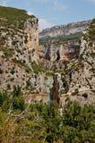 Foz de Lumbier, canyon di A in Spagna Fotografia Stock