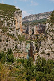 Foz de Lumbier, A canyon in Spain. A picture of the Foz de Lumbier, A canyon near the town of Lumbier in Spain Stock Photo