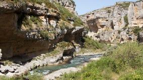 Foz de Lumbier Canyon in Spain Royalty Free Stock Photos