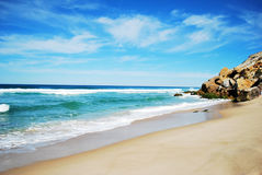Foz do arelho. One of most beautiful beaches in Portugal stock image