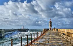 Foz do Douro lighthouse stock image