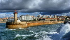 Foz do Douro lighthouse stock images