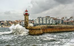 Foz do Douro lighthouse Royalty Free Stock Photos