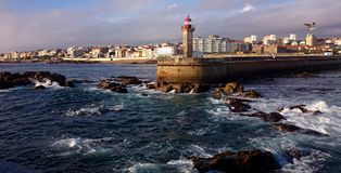 Foz do Douro lighthouse stock photos