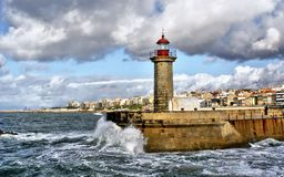 Foz do Douro lighthouse royalty free stock image