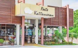 Porto Kattamaram restaurant. Foz do Iguacu, Brazil - January 08, 2018: Porto Kattamaram restaurant on the harbor Kattamaram. Place visited by tourists to lunch Royalty Free Stock Photo