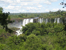 Foz do Iguacu Falls Argentina Brazil Royalty Free Stock Photography
