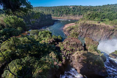 Foz do Iguassu Argentina Brazil Stock Photography