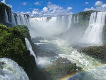 Foz do Iguassu Falls Argentina Brazil Stock Photo
