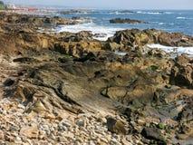 Foz doet Douro-kust in Portugal Stock Afbeelding