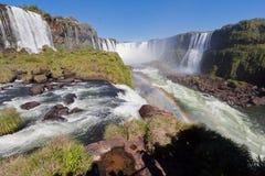 Foz doet Iguassu Dalingen Argentinië Brazilië Stock Foto's