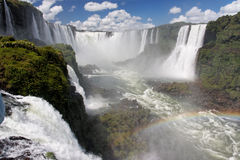 Foz fa le cadute Argentina Brasile di Iguassu Immagini Stock Libere da Diritti