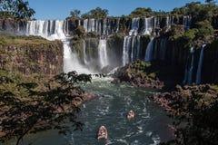Foz hace Iguassu la Argentina el Brasil Fotos de archivo libres de regalías
