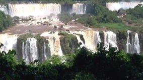 Foz Iguaçu siklawy w Ameryka Południowa zdjęcie wideo