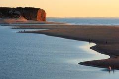 Foz tun Arelho, die obidos Lagune, Portugal lizenzfreie stockbilder