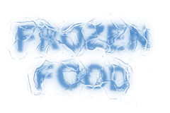 Fozen food (Text serie) Stock Photos