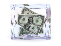 Fozen money Stock Images