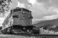 Diesel Locomotive FP7 on Verde Canyon Railroad Stock Photo