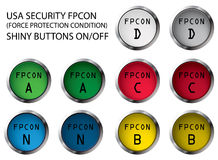 FPCON buttons Stock Images