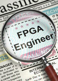 FPGA Engineer Wanted. 3D. Stock Photo