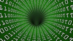 Fps du trou 60 de tunnel de réseau de code binaire banque de vidéos