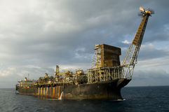 Fpso oil rig. In offshore area in the coast of Brazil Stock Photo