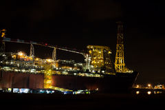 FPSO ship docked in port. Royalty Free Stock Image