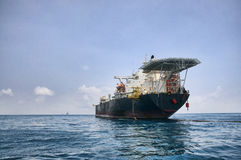 FPSO tanker in the ocean Stock Images